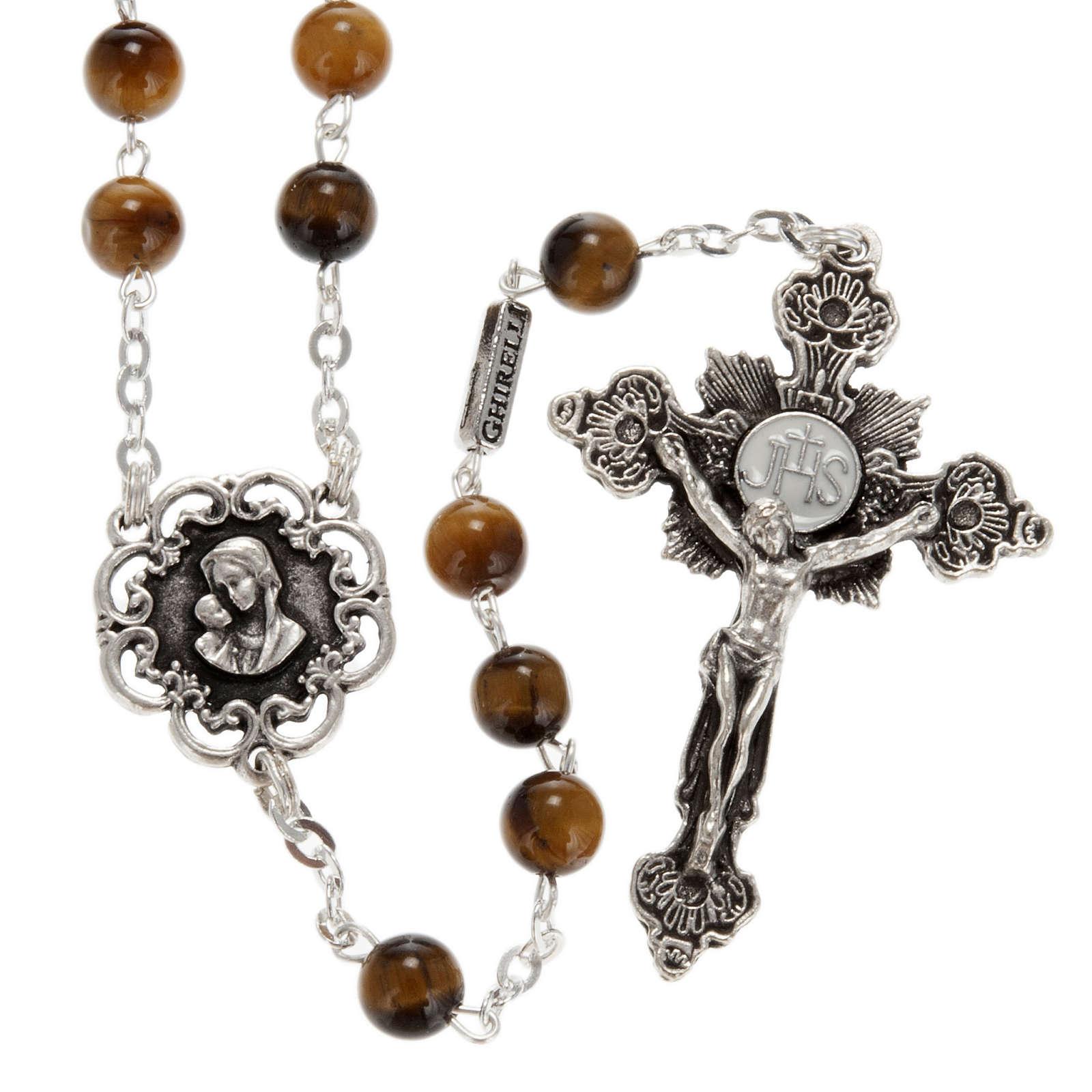 Ghirelli rosary in tiger's eye 6mm 4