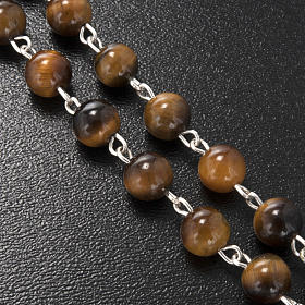 Ghirelli rosary in tiger's eye 6mm s5