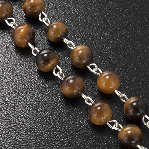 Ghirelli rosary in tiger's eye 6mm 5
