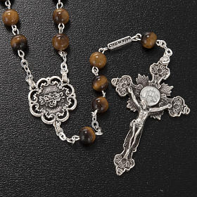 Ghirelli rosary in tiger's eye 6mm s2
