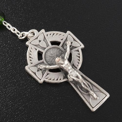 Ghirelli rosary, green glass, St. Patrick 6mm 3