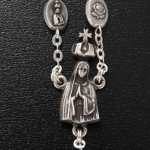 Rosario Ghirelli ottone Madonna Fatima 6x8 mm 4