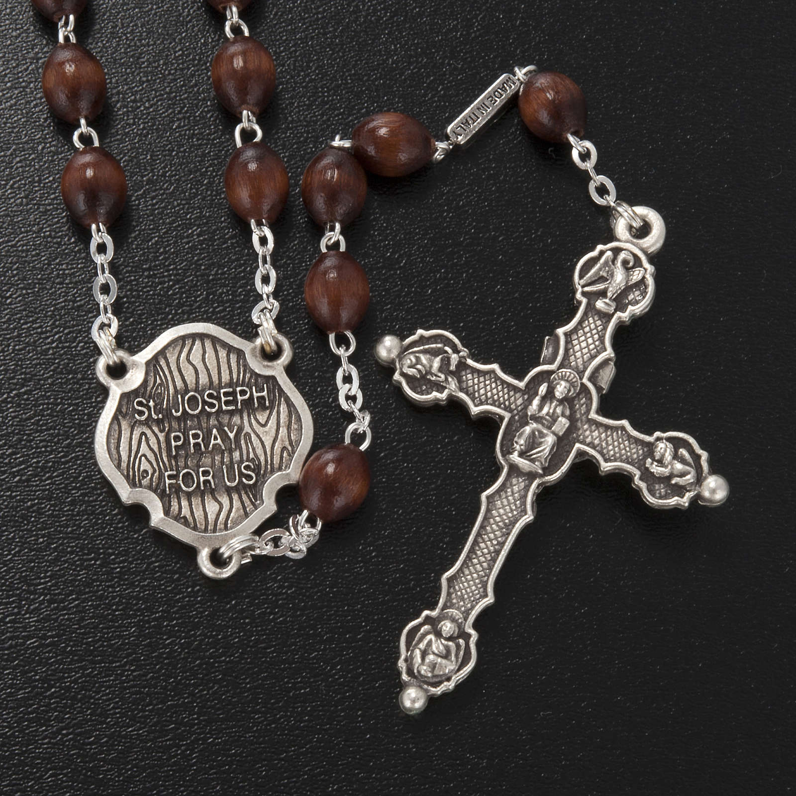 Ghirelli rosary, St. Joseph with baby 6x8mm 4