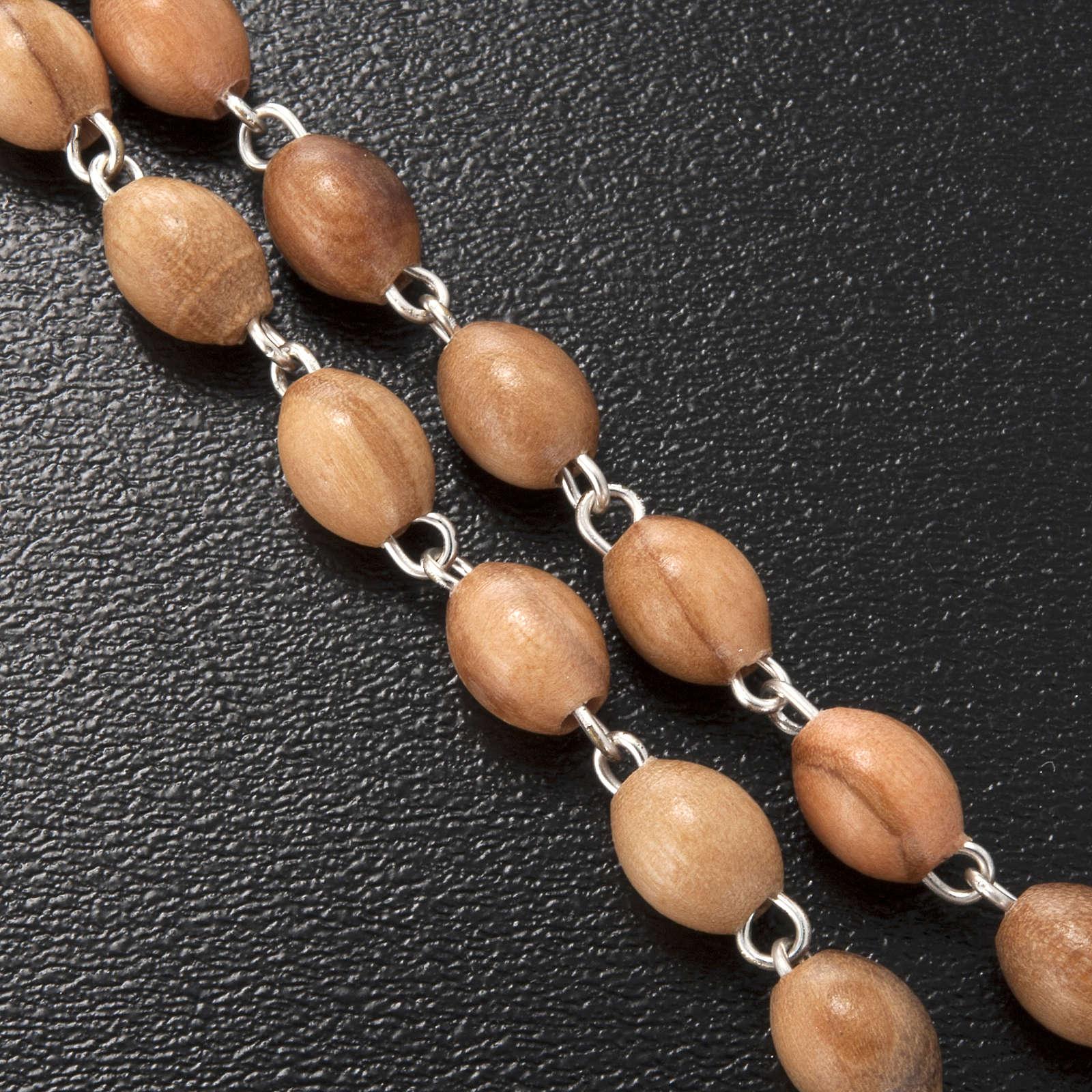 Rosario Ghirelli legno ulivo simbolo mariano 5x7 mm 4