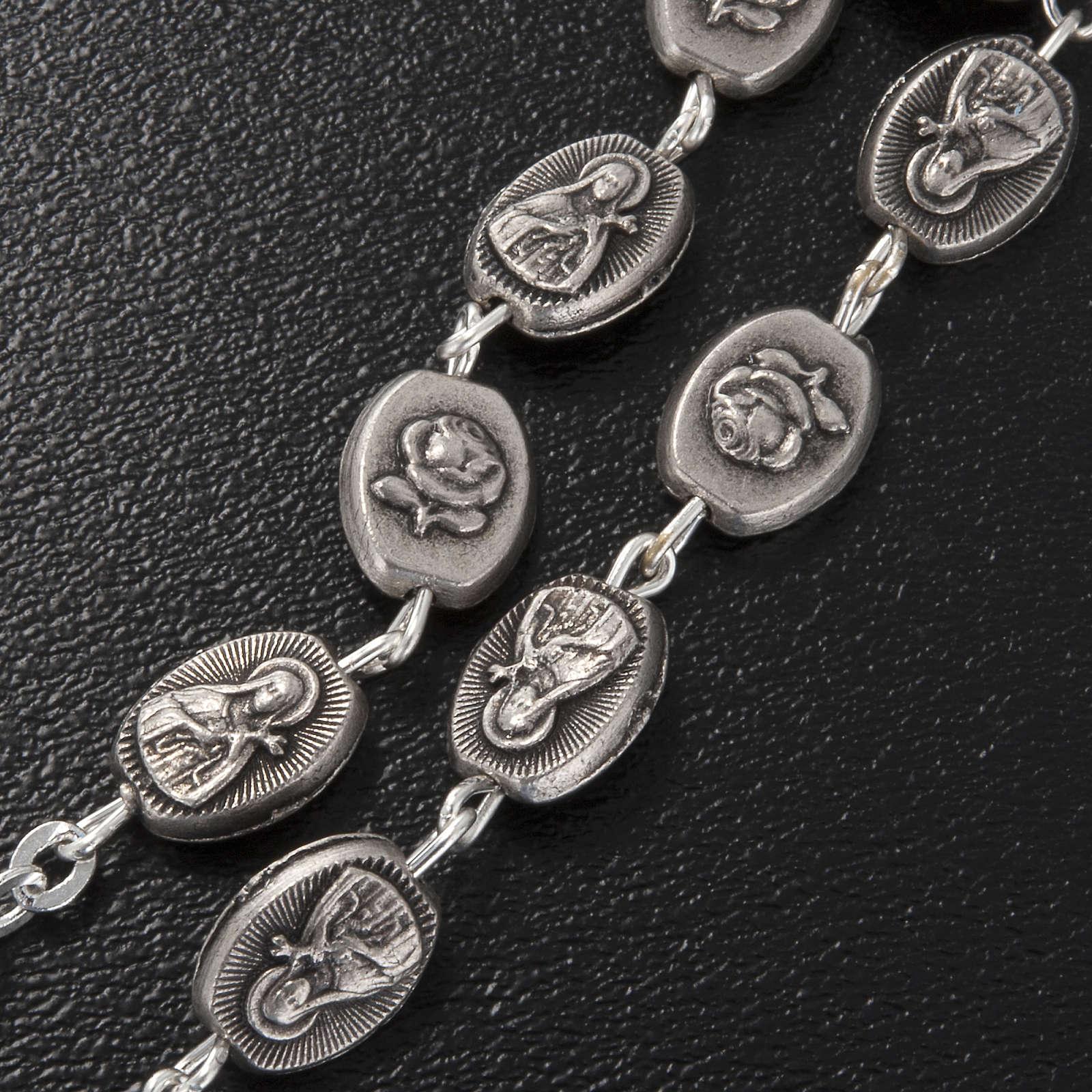 Bracelet dizainier Ghirelli laiton St. Thérèse rose 4