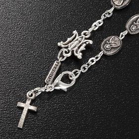 Bracelet dizainier Ghirelli laiton St. Thérèse rose s2