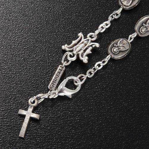Bracelet dizainier Ghirelli laiton St. Thérèse rose 2