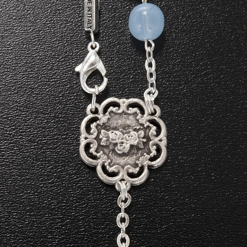Ghirelli single-decade rosary, glass with Our Lady and baby 8mm 3