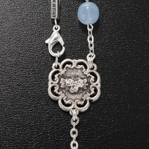 Różaniec dziesiątka Ghirelli szkło Madonna z Dzieciątkiem 8 mm 3