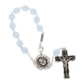 Ghirelli single-decade rosary, glass with Our Lady and baby 8mm s1
