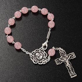 Dizainier Ghirelli Vierge à l'enfant verre rose 8mm s2