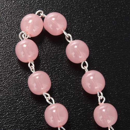 Dizainier Ghirelli Vierge à l'enfant verre rose 8mm 3