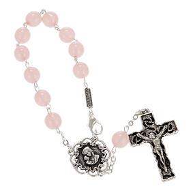 Rosario decina Ghirelli vetro rosa Madonna bambino 8 mm s1