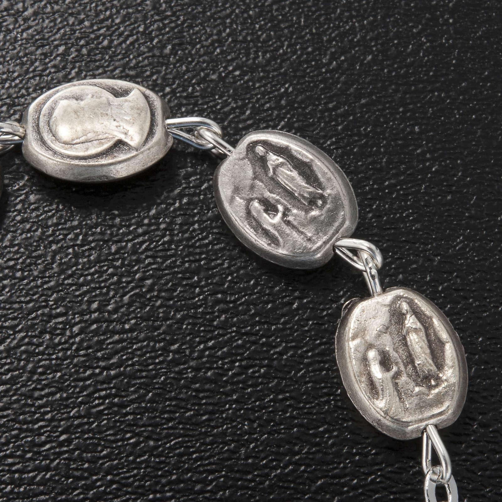 Ghirelli single-decade bracelet, Our Lady of Lourdes 6x8mm 4