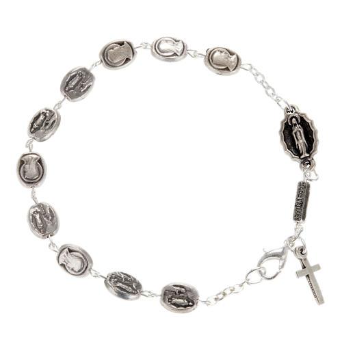 Ghirelli single-decade bracelet, Our Lady of Lourdes 6x8mm 1