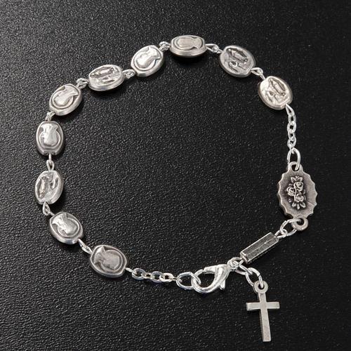 Ghirelli single-decade bracelet, Our Lady of Lourdes 6x8mm 2