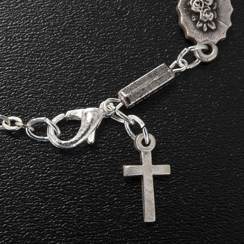 Ghirelli single-decade bracelet, Our Lady of Lourdes 6x8mm 3