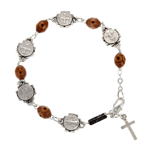 Ghirelli single-decade bracelet, Saint Benedict 1