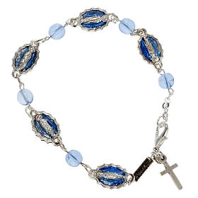 Braccialetto decina Ghirelli Guadalupe vetro azzurro s1
