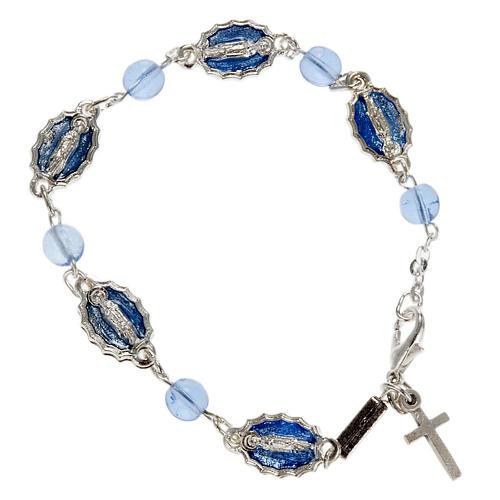Braccialetto decina Ghirelli Guadalupe vetro azzurro 1