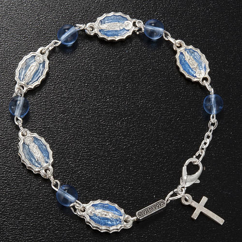 Ghirelli single-decade bracelet, Our Lady of Guadalupe glass 4