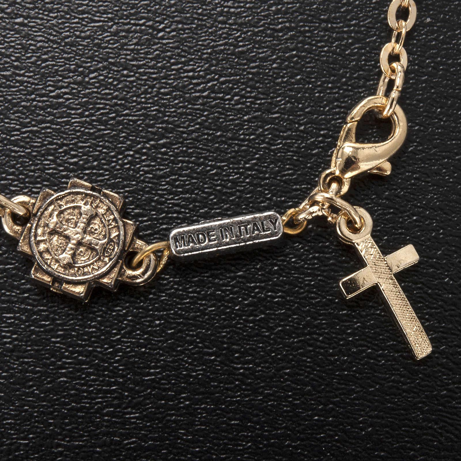Ghirelli prayer bracelet Saint Benedict, glass 4