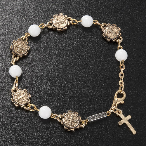Ghirelli prayer bracelet Saint Benedict, glass 2