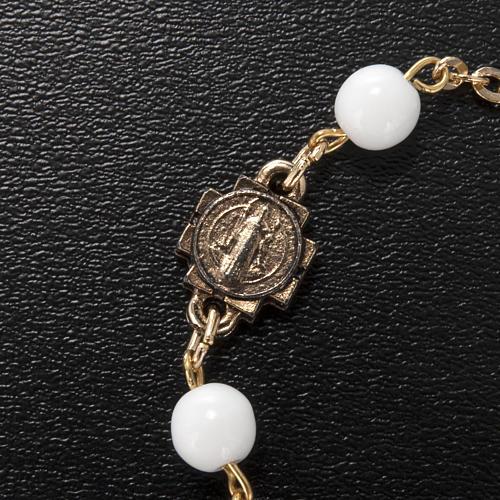 Ghirelli prayer bracelet Saint Benedict, glass 5