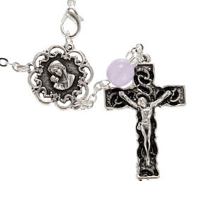 Ghirelli single-decade rosary in lilac glass 8mm s2