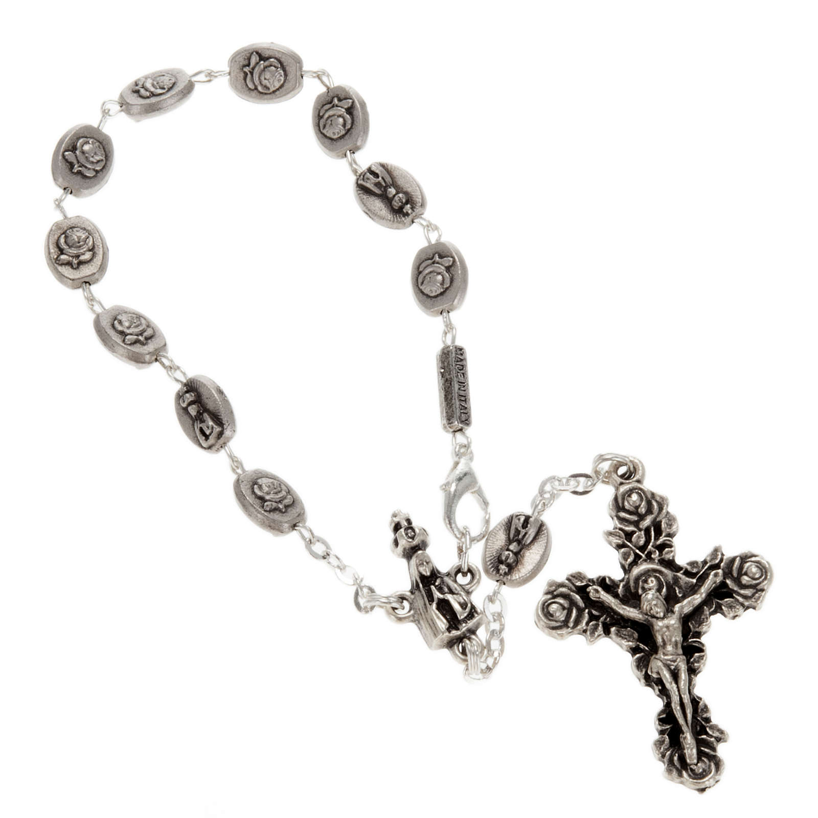 Ghirelli single-decade rosary, Our Lady of Fatima in brass, 6x8m 4