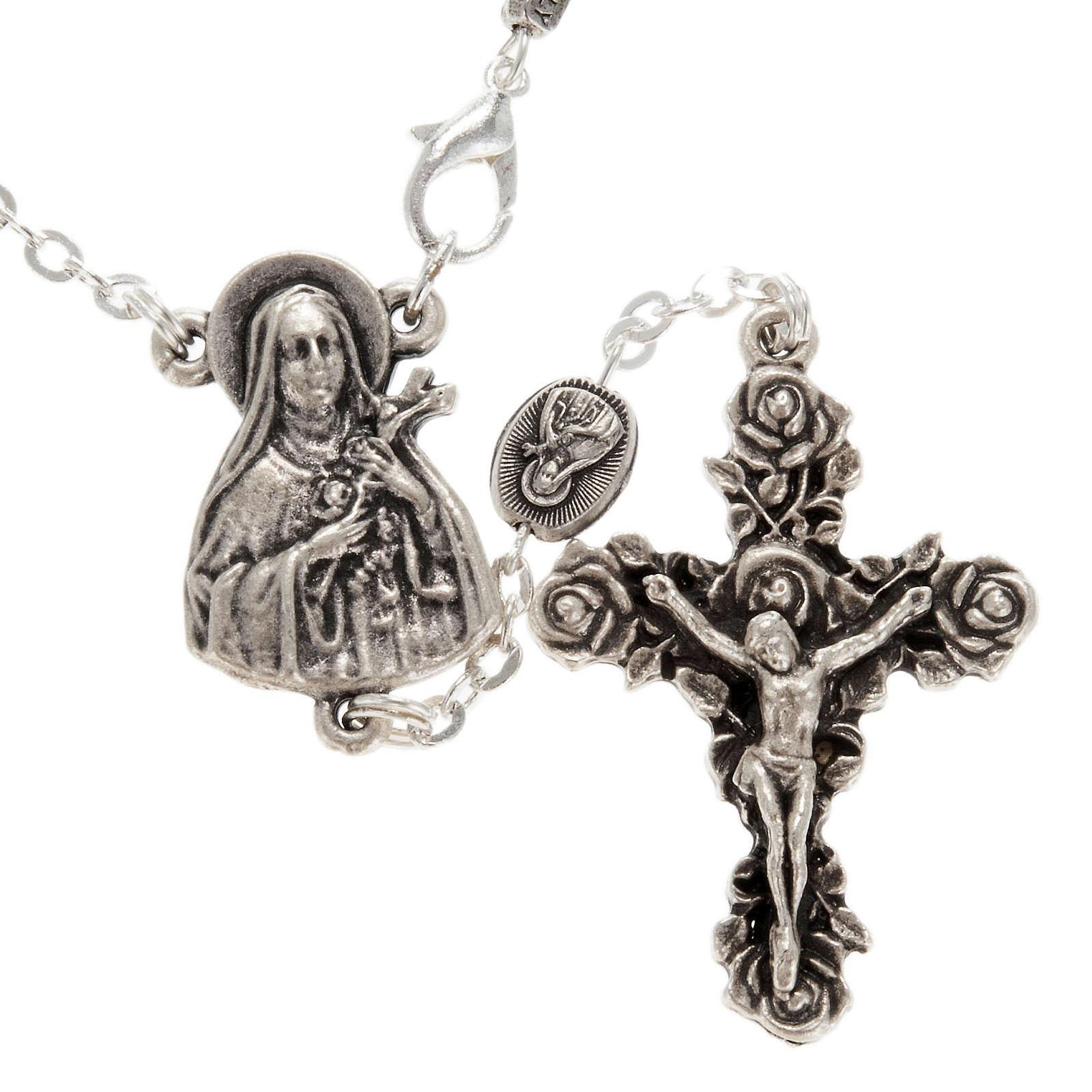 Ghirelli single-decade rosary, Saint Teresa in brass, 6x8mm 4