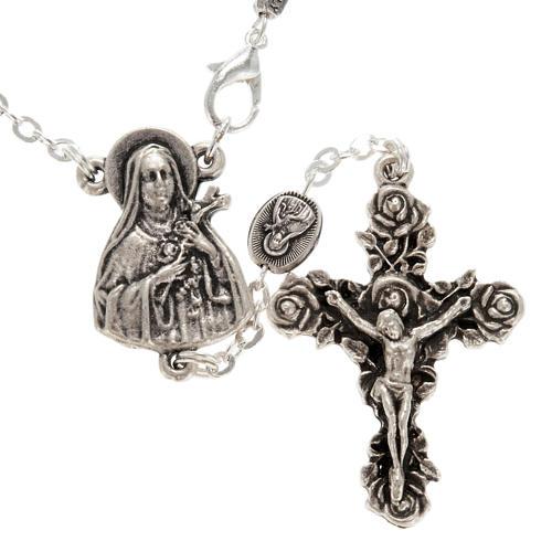 Ghirelli single-decade rosary, Saint Teresa in brass, 6x8mm 2