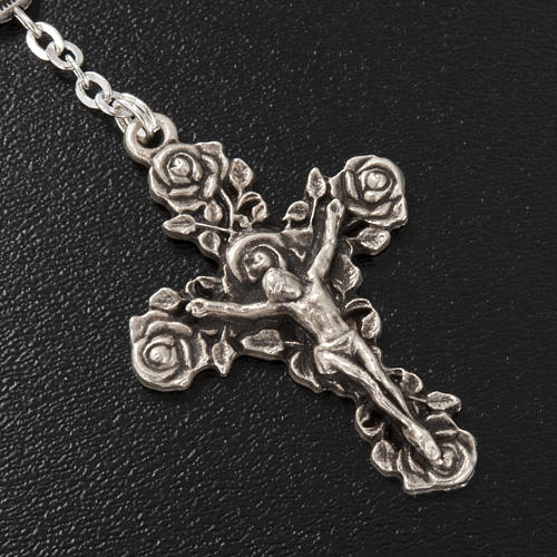 Ghirelli single-decade rosary, Saint Teresa in brass, 6x8mm 3