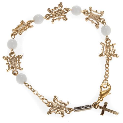 Ghirelli bracelet in Marian white glass 1