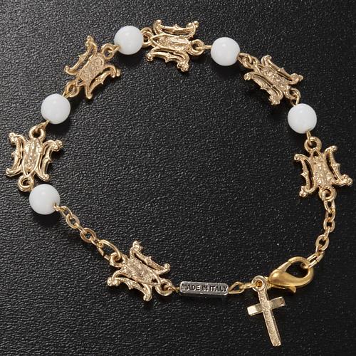 Ghirelli bracelet in Marian white glass 2