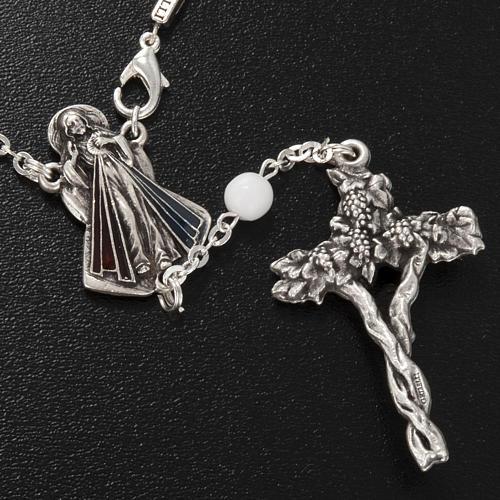 Ghirelli single-decade rosary, red Bohemia glass 6mm 4