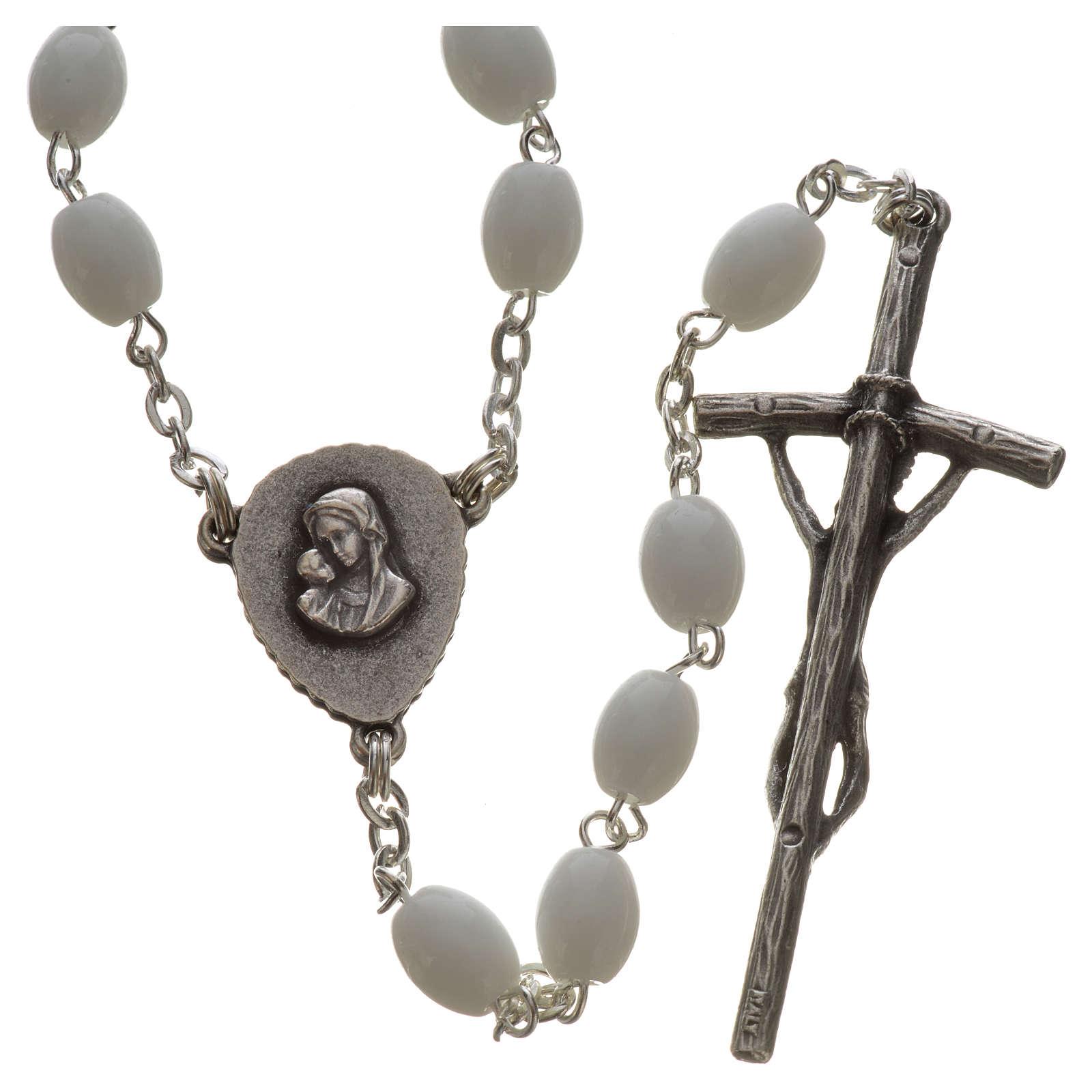 Rosario Ghirelli vetro di Bohemia bianco Benedetto XVI 4