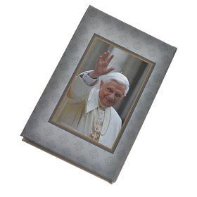Rosario Ghirelli vetro di Bohemia bianco Benedetto XVI s5