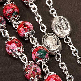 Ghirelli rosary decorated red glass beads s4