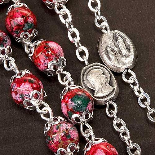 Rosario Ghirelli, vidrio rojo decorado 4