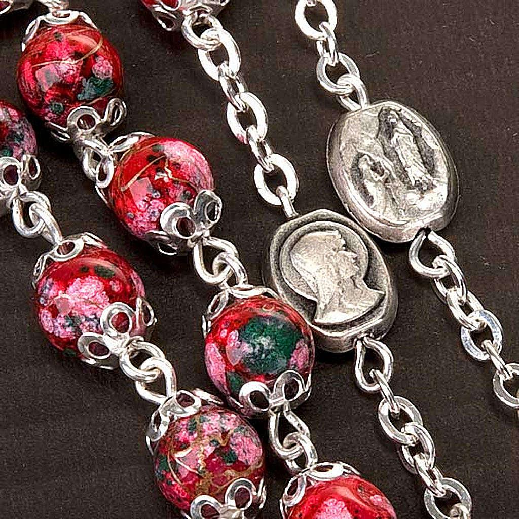 Chapelet Ghirelli verre décoré rouge 4