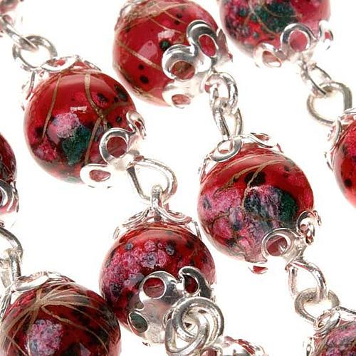 Chapelet Ghirelli verre décoré rouge 7