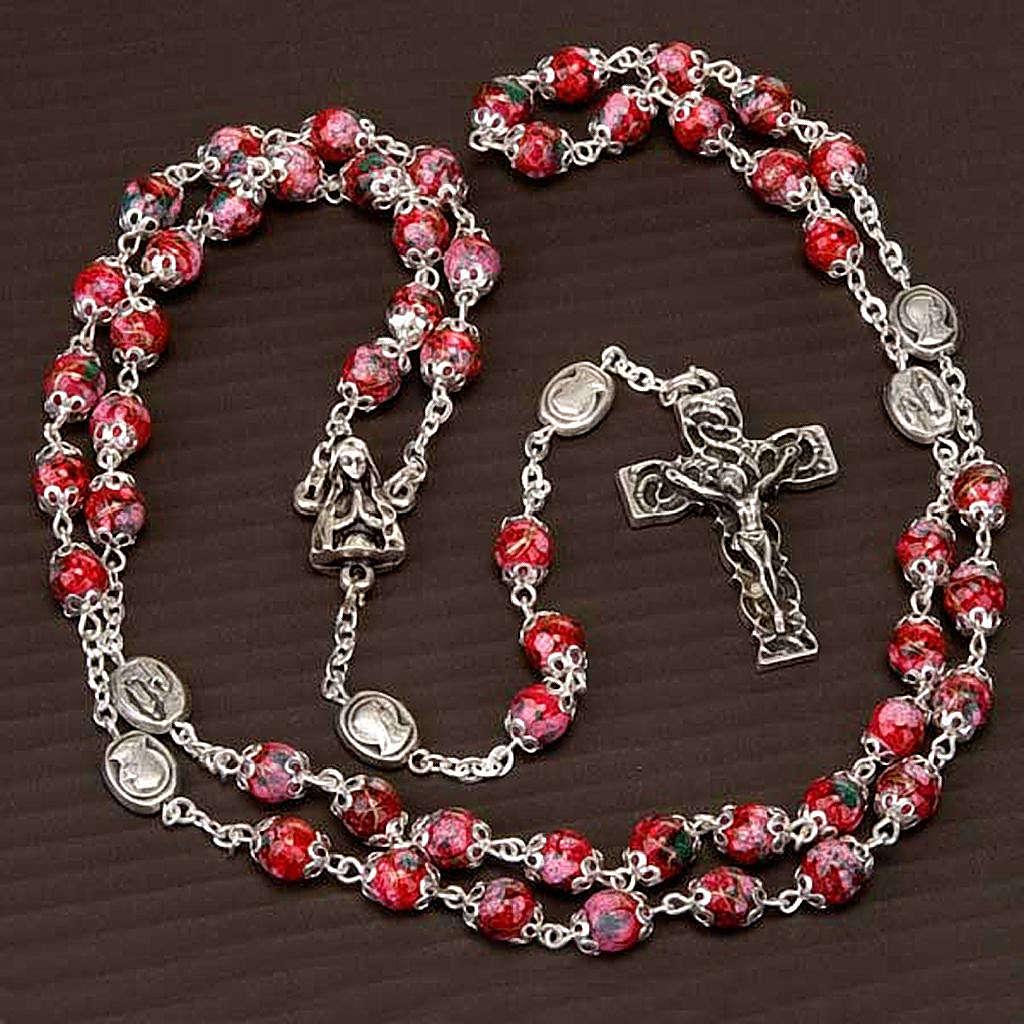 Rosario Ghirelli vetro decorato rosso 4