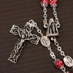 Ghirelli rosary decorated red glass beads s2