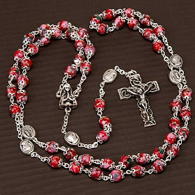 Ghirelli rosary decorated red glass beads s5