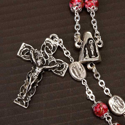 Ghirelli rosary decorated red glass beads 2
