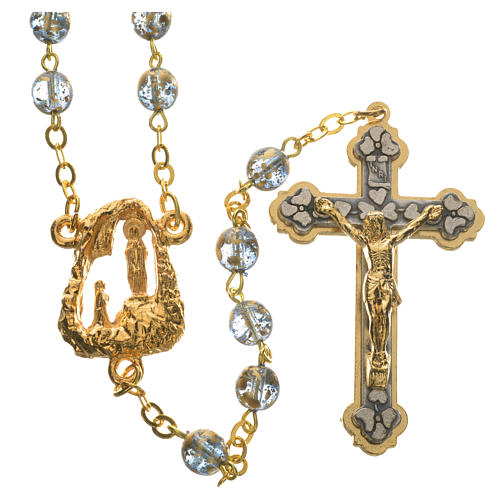 Ghirelli rosary with Lourdes grotto 6mm 10