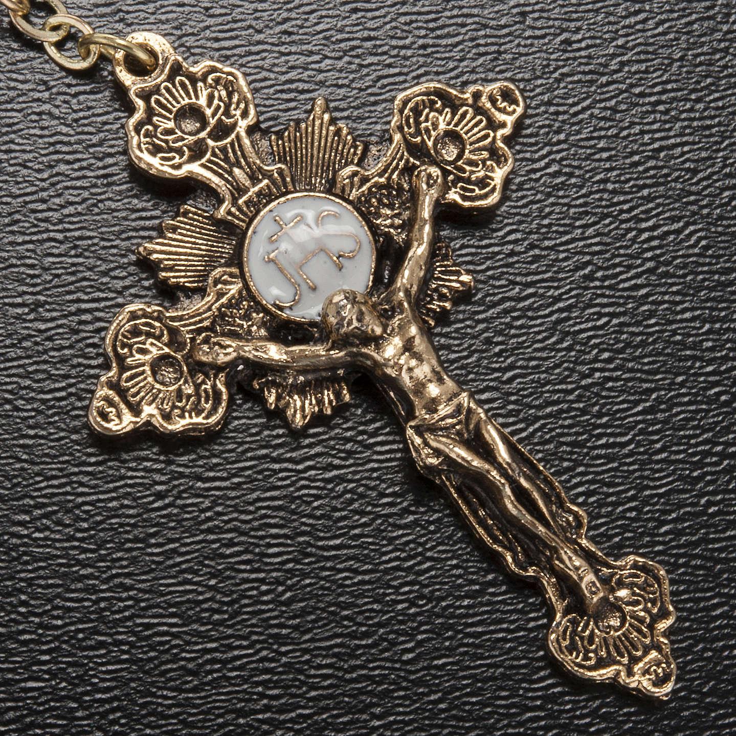 Rosario Ghirelli Madonna di Fatima vetro blu oro 6 mm 4