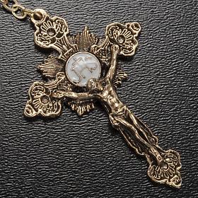 Rosario Ghirelli Madonna di Fatima vetro blu oro 6 mm s4