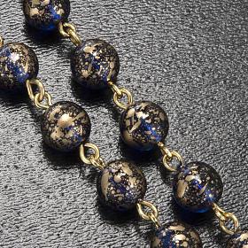 Rosario Ghirelli Madonna di Fatima vetro blu oro 6 mm s5